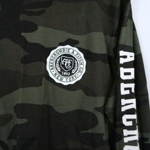 Abercrombie & Fitch Shirts - Abercrombie & Fitch Applique Logo Tee Camouflage